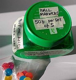 Ball marker jar